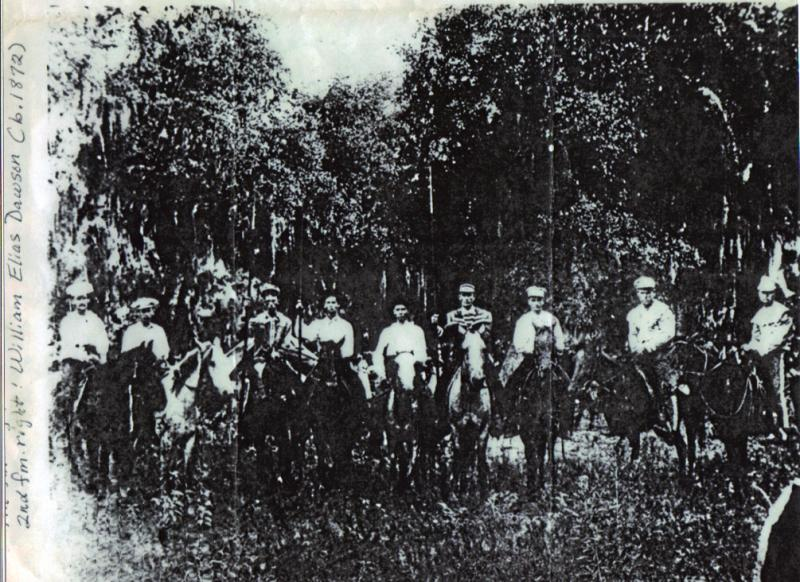 Jousting Team for Sutherland Springs,  circa 1872